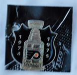 Philadelphia Flyers Back to Back Stanley Cup Champions 1974-1975 Commemorative Lapel Pin